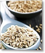 Rolled Oats And Oat Groats Metal Print by Elena Elisseeva