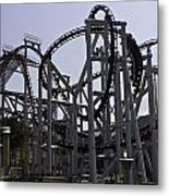 Roller Coaster Rides Inside The Universal Studio Park In Sentosa Metal Print