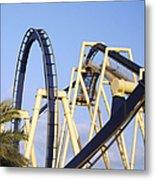 Roller Coaster Track Metal Print by Skip Nall