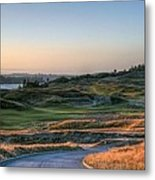 Rolling Green And Gold - Chambers Bay Golf Course Metal Print