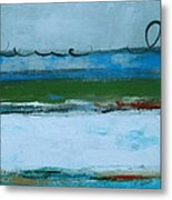 Rolling On The Blue II Metal Print