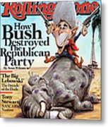 Rolling Stone Cover - Volume #1060 - 9/4/2008 - George W. Bush Metal Print