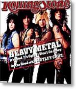 Rolling Stone Cover - Volume #506 - 8/13/1987 - Motley Crue Metal Print