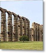Roman Aquaduct Metal Print