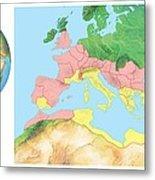 Roman Empire, Artwork Metal Print