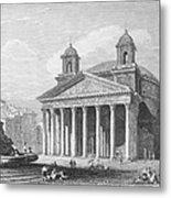 Roman Pantheon, 1833 Metal Print