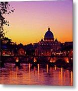 Roman Sunset Metal Print by Karl Borg