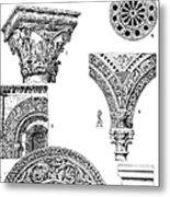 Romanesque Ornament Metal Print