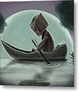 Romantic Boat Ride For One Metal Print