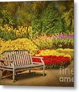 Romantic Flower Garden  Metal Print