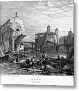 Rome: Ponte Rotto, 1833 Metal Print by Granger
