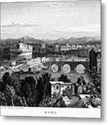 Rome: Scenic View, 1833 Metal Print