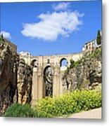Ronda Bridge In Spain Metal Print
