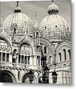 Roof And Facade Of St Mark Basilica  Metal Print