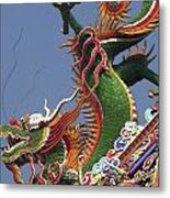 Roof Dragon Metal Print
