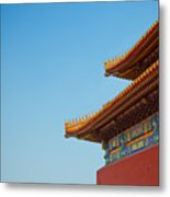 Roof Of Forbidden City, Beijing, China Metal Print