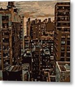 Rooftop Color 6 Metal Print
