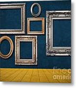 Room With Frames Metal Print by Atiketta Sangasaeng