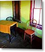 Room With Red Chair Metal Print