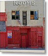 Rooms And A Beer Sign Metal Print by James Steele