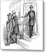 Roosevelt Cartoon, 1884 Metal Print