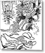Roosevelt Cartoon, 1902 Metal Print