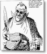Roosevelt Cartoon, 1938 Metal Print