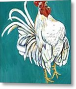Rooster Call Metal Print