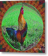 Rooster Colors Metal Print