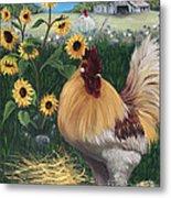 Rooster One Eyed Jack Metal Print