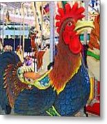 Rooster With An Attitude Metal Print