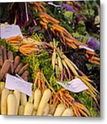 Root Vegetables At The Market Metal Print
