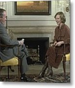 Rosalynn Carter During A White House Metal Print