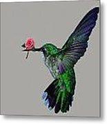 Rose Baring Bird Metal Print