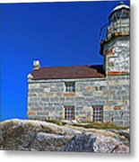 Rose Blanche Lighthouse Metal Print