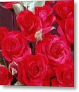 Rose Bunch Metal Print