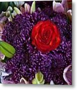 Rose Center Of Attention Metal Print