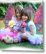 Rose Faeries Metal Print