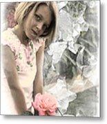 Rose Faery Metal Print
