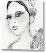 Rose Flapper Metal Print