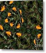 Rose Kaleidoscopic Mirror  Metal Print