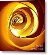 Rose Series - Gold Metal Print