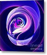 Rose Series - Violet-colored Metal Print