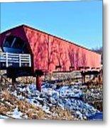 Roseman Covered Bridge Metal Print