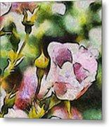 Roses At The Shrine Metal Print