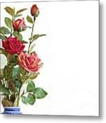 Roses Bouquet Metal Print