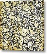 Roses Pattern Metal Print by Setsiri Silapasuwanchai