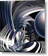 Rotating Vortices Metal Print
