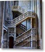 Rouen Cathedral Stairway Metal Print