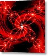 Rouge Et Noir Avec Blanc Metal Print